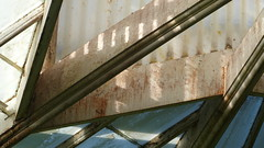 A17998 / abstraction at the conservatory (janeland) Tags: sanfrancisco california 94118 goldengatepark conservatoryofflowers abstract architecture architecturaldetail sooc teal overhead june 2018 greenhouse