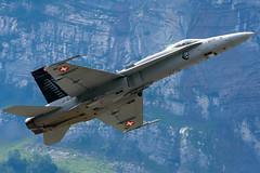 Boeing F/A-18 Hornet (Guy Goetzinger) Tags: rot zigermeet 2019 mollis airshow goetzinger nikon d500 airplane flugzeug avion switzerland boeing hornet jet fighter aviation