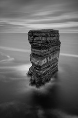 Stacked (tolle13) Tags: ireland mayo downpatrick seastack mono bw