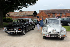 1977 Tatra 613 and 1946 Tatra 87 (Davydutchy) Tags: truk tatra register uk annual rally wroxeter roman excavations classic car auto automobile automobiel pkw wartburg 353 kombi tourist estate 57a t57 t67a t613 chromka t87 87 shropshire august 2019