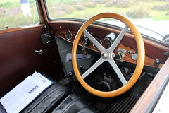 1934 Tatra 57A, dashboard and steering wheel (Davydutchy) Tags: truk tatra register uk annual rally wroxeter roman excavations classic car auto automobile automobiel pkw wartburg 353 kombi tourist estate 57a t57 t67a t613 chromka t87 87 shropshire august 2019