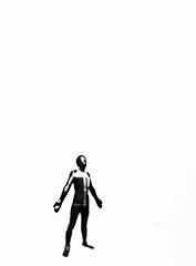 He Missed the Last Bus Off the Planet (Steve Taylor (Photography)) Tags: digitalart minimalist minimalism monochrome blackandwhite sad uk gb england greatbritain unitedkingdom london man texture tatemodern untitledforfrancis