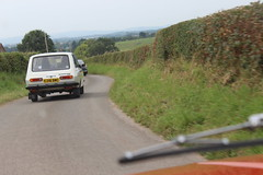 Giving chase along English country roads (Davydutchy) Tags: truk tatra register uk annual rally wroxeter classic car auto automobile automobiel pkw wartburg 353 kombi tourist estate 57a t57 t613 chromka t87 87 shropshire august 2019