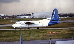 PH-KUF Fokker 50 KLM BHX 07-04-94 (cvtperson) Tags: phkuf fokker 50 klm birmingham airport bhx egbb