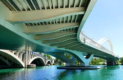 Bridge : PSP**** (Le.Patou) Tags: france rhône lyon confluence fz1000 psp newtheme bridge pont river blue architecture water white