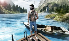 ☠ BOAT (Shock Q'Kell) Tags: arcback hat necklace catwa head fashionnatic shorts magnificent beard bolson amias rings bracelets bloggers albloggers photo slphoto male boy men man picture slpicture style fashion mancave equal sandal swallow signature sl secondlife