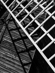 Pitstone Windmill (detail) (Biff_Brown) Tags: windmill pitstone abstract shadows monochrome blackandwhite affinityphoto panasonicg6 lumix