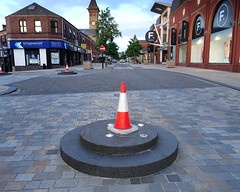 Dunce cap for the Council Town Planner (Tony Worrall) Tags: preston lancs lancashire city welovethenorth nw northwest north update place location uk england visit area attraction open stream tour country item greatbritain britain english british gb capture buy stock sell sale outside outdoors caught photo shoot shot picture captured ilobsterit instragram photosofpreston urban street cone daft stupid fishergate broken bad plinth mainroad dunce stone lcc council planners