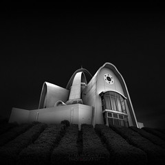 H a u n t e d (Jin Mikami) Tags: monochrome mono bw bnw black white architecture photoshopped japan pentax minimal minimalism surreal cityscape building fine art dark darkness square