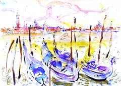 VENICE 16 serie 3 (eduard muntada) Tags: venice 16 serie 3 artwork desing watercolor simplicity expressionism painting lanscape