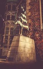 Die Bremer Stadtmusikanten bei Nacht (DonSal_LE) Tags: touristik tourismus märchen deutschland germany sehenswürdigkeiten tour poi night nacht stadtmusikanten bremer bremen
