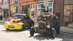 Smooth, Then Rough (trainmann1) Tags: nikon d7200 nikkor 18200mm amateur handheld pa pennsylvania summer july 2019 outside outdoors carshow classiccars classics antique relic car truck show kutztown town smalltown mainstreet ratrod hotrod