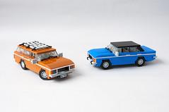 Ford Granada MK1 Sedan, Kombi (03) (Mateusz92) Tags: lego afol moc car ford granada mk1 zbudujmy to