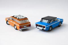 Ford Granada MK1 Sedan, Kombi (02) (Mateusz92) Tags: lego afol moc car ford granada mk1 zbudujmy to