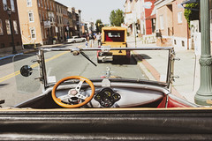 Where To Go Next (trainmann1) Tags: nikon d7200 nikkor 18200mm amateur handheld pa pennsylvania summer july 2019 outside outdoors carshow classiccars classics antique relic car truck show kutztown town smalltown mainstreet classiccar steeringwheel windshield