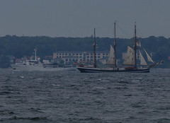 M/Y Capella C and schooner Thor Heyerdahl (frankmh) Tags: motoyacht expeditionyacht capellac tallship schooner thorheyerdahl öresund