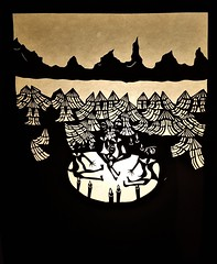 Beneath the Stars (alicehopelockhart) Tags: illustration mountain art paper cut stars