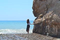 Aphrodite's Rock... (Maria Godfrida) Tags: smileonsaturday rock aphroditesrock cyprus sea ocean beach water waves blue woman