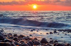 Sea Sunset (free3yourmind) Tags: sea sunset sun wave waves pebbles outdoor scenic nature calm harmony colorful orange batumi georgia