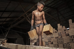 Aspiration (photo 3/24) (Mio Cade) Tags: asia childlabor brick factory work boy kid child flood documentary reportage