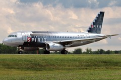 N517NK spirit A319-132 at KCLE (GeorgeM757) Tags: n517nk spirit a319132 aircraft aviation airplane airport airbus kcle georgem757 canon70d takeoff