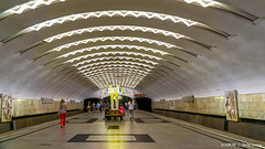 Moscow, Russia: Perovo metro station, Line 8 - Opened 1979 (nabobswims) Tags: ilce6000 lightroom luminositymasks metro mirrorless mockba moscow nabob nabobswims perovo photoshop ru rapidtransit russia sel18105g sonya6000 station subway ubahn перово