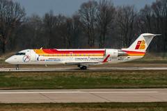 EC-JCG (PlanePixNase) Tags: aircraft airport planespotting haj eddv hannover langenhagen iberia airnostrum canadair 200 crj crj200 crj2