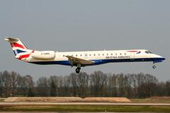 G-EMBE (PlanePixNase) Tags: aircraft airport planespotting haj eddv hannover langenhagen british britishairways embraer 145 e145