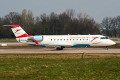 OE-LCN (PlanePixNase) Tags: aircraft airport planespotting haj eddv hannover langenhagen austrian arrows canadair crj200 crj crj2