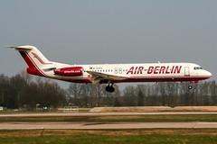 D-AGPA (PlanePixNase) Tags: aircraft airport planespotting haj eddv hannover langenhagen airberlin fokker f100 100