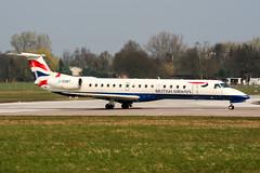 G-EMBT (PlanePixNase) Tags: aircraft airport planespotting haj eddv hannover langenhagen british britishairways embraer 145 e145
