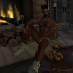 Waiting For My Love (Bre Czarouxlow) Tags: jaisilver motiv8 olivermylekssilver cubura gabriel gay hairy sexy solo muscle food wine