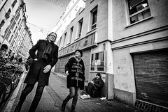 WeAllNeedSomebody.jpg (Klaus Ressmann) Tags: omd em1 fparis france iaowa75mm klausressmann peoplestreet winter beggar blackandwhite candid couple flcpeop streetphotography unposed omdem1