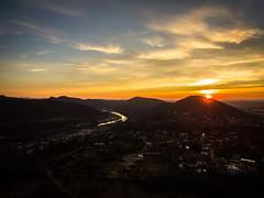 Besançon - France (The_Forgotten_Legacy) Tags: drone dronephoto dronephotography djidrone dji france besancon jura franchecomte sunset sun orange orangehour mountains monragne