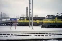 5307+5308 Virton fin décembre 1999 (james.arnould) Tags: virton nohab afb locomotive diesel sncb serie reek 53