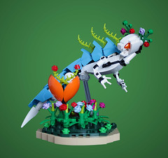 Jolly spirit of the fairy forest (Loysnuva) Tags: lego moc ccbs custom system bionicle hero factory constraction dragon fairy mystical creature forest flower magic magical bionifigs loysnuva spirit colorful