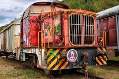 Rusty locomotive. (wimjee) Tags: nikond7200 nikon d7200 afsdx1680mmf284eedvr decayed urban abandoned decay vervallen verlaten urbex train trein rusty roestig locomotive niksoftware colorefexpro4