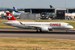 Swiss | Airbus A220-300 | HB-JCJ | London Heathrow (Dennis HKG) Tags: aircraft airplane airport plane planespotting staralliance canon 7d 70200 london heathrow egll lhr swiss swissair swr lx bombardier cseries bcs3 cs300 a220 airbus a220300 airbusa220 airbusa220300 hbjcj