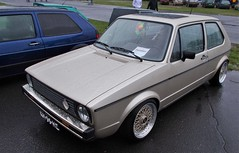 (Uno100) Tags: volkswagen vw golf mk 1 gti cabriolet green gold bbs wheels volksstyle weeze 2019 airport germany