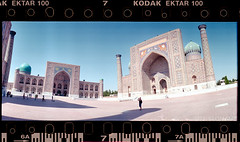 Surround (tsiklonaut) Tags: horizon 202 panorama panoramic pano 135 35mm roll film analog analogue analogica analoog uzbekistan ark fort ancient old fortress architecture central asia usbekistan street city iidne stone building unique travel discover experience drum scan drumscan scanner pmt photomultiplier tube people mosque minaret mosques