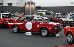 Alfa Romeo 1300 GTA Junior Coupé (1969) (baffalie) Tags: auto voiture ancienne vintage classic old car coche retro expo italia sport automobile racing motor show collection club course race circuit italie padoue fiera moto bike motorbike motocycle