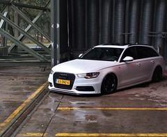(Uno100) Tags: audi rs 6 white black avant front volksstyle weeze airport germany 2019