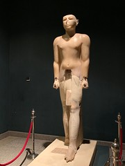 Colossal Alabaster Statue of King Seti I (RocknRodV) Tags: egypt luxor luxormuseum museum setii seti alabaster statue