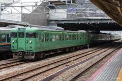 Kyoto (Jan Dreesen) Tags: japan japon kyoto kioto station jr west railways train emu 113 trein suburban green