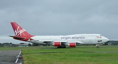 G-VROS (Gary Kenney Aviation) Tags: gvros virgin atlantic boeing 747 b7474 b747 glasgow airport jumbo forever young airplane