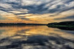 sunset on the waterways of the tsars ... (miriam ulivi - OFF/ON) Tags: miriamulivi nikond7200 russia crociera cruise vienavigabili waterways acqua water fiume river tramonto sunset cielo sky nuvole clouds nature