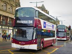 Lothian Buses 444 (SJ66LOH) - 16-08-19 (peter_b2008) Tags: lothianbuses volvo b5tl wrightbus wright eclipsegemini3 444 sj66loh buses coaches transport buspictures