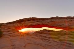 Mesa Sunrise (Dan Panaitescu (light catcher)) Tags: mesaarch canyonlandsnationalpark geology sunrise starburst sun usnationalparks nikond610 nikon1424