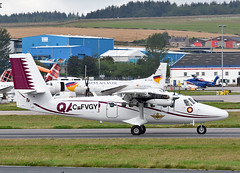 Qatar Air Force DH6 (np1991) Tags: aberdeen dyce airport aberdeenshire scotland united kingdom uk nikon digital slr dslr d7200 camera nikor 70200mm 70 200 70200 vibration reduction vr f28 lens aviation planes aircraft qatar qatari dash 6 twin otter dh6 cfvgy a7maq delivery flight