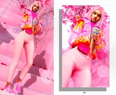 #871 (Owner Pink Unicorn ♡ 智代) Tags: kustom9 k9 moonhair blackbantam nativeurban villena pinkunicorn evani genus pumec maitreya sl secondlive style moda blog blogger photo art design visual body game online